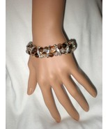New !!!   Bling Bling Crackle Beads Beaded Stretch Rhinestone Bracelet - $4.99