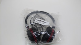 Golden Vocal Over Head Stereo Headphone with Mic - Black/Red - $19.99