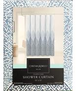 Cynthia Rowley Stamped Ombre Geometric Mosaic Blues Shower Curtain - $32.00