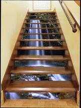 3D Strom Fließen Stair Risers Dekoration Fototapete Vinyl Aufkleber Tapete DE - $85.64+