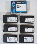Lot HP 950 950XL 951 Printer Cartridges - Unexpired - New & Partially Used - $64.34