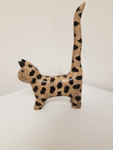 Carved Spotted Cat with Very long Tail - $3.85