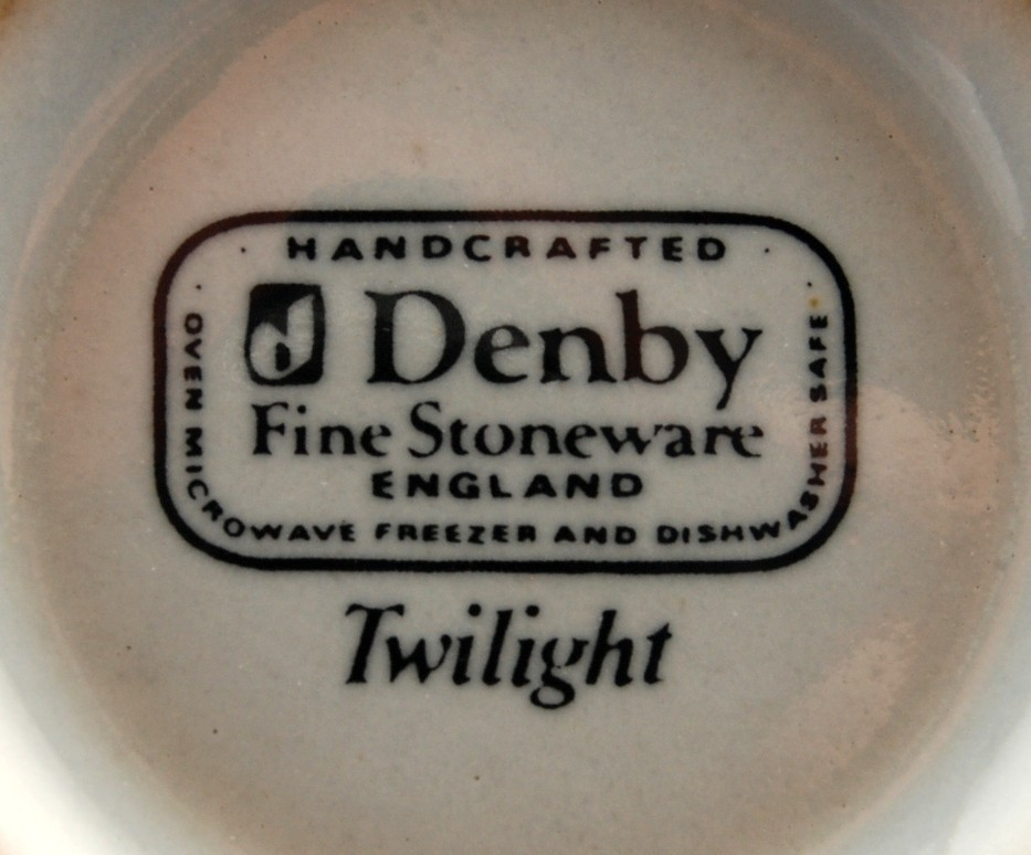 Denby Twilight w Leaves Cup Fine Stoneware New Stock England