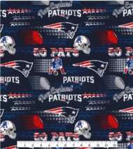 "NFL NEW ENGLAND PATRIOTS RETRO Cotton Fabric by 1/2,Yard, 58""W for Mask - $17.99"