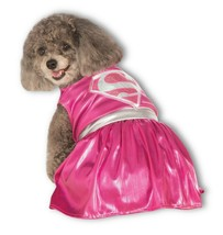 RUBIE'S PINK SUPERGIRL COSTUME FOR X LARGE DOGS HALLOWEEN SUPER HERO DC ... - $20.78