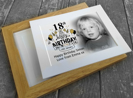 wooden photo frame or card mount, 18th or any age birthday personalised ... - £9.23 GBP+