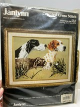 Dogs Counted Cross Stitch Kit Pointers On Point Sealed By Janlynn Huntin... - $29.69