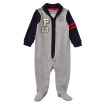 Ralph Lauren Baby Boys Cotton French Terry Coverall (9 Months, Andover H... - $24.99