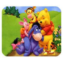 Mouse Pad Winnie The Pooh Friends Cute Disney Cartoon Animation Design Fantasy - $6.00