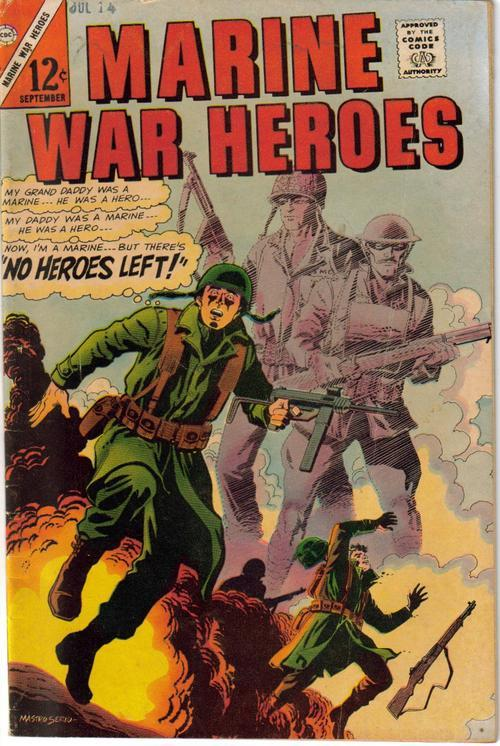 Charlton Marine War Heroes V1 #15 No Heroes Left Chateau Thierry Adventure