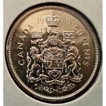 1965 Canada 50 Cent Silver Coin. Very Fine! - $10.60