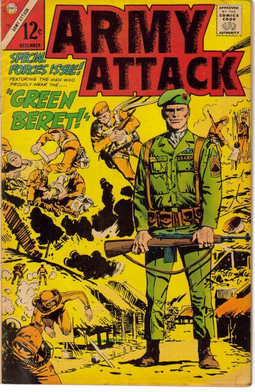 Charlton Army Attack V2 #46 Special Forces Issue Green Beret Action Adventure