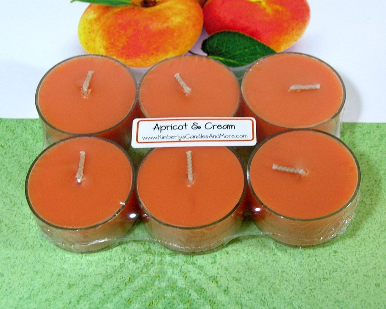 Apricot & Cream PURE SOY Tea Lights
