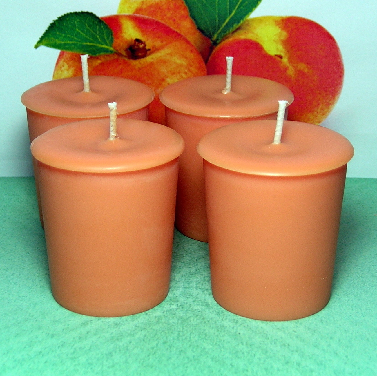 Apricot & Cream  PURE SOY  Votives (Set of 4)