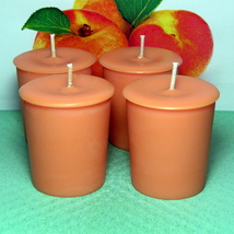 Apricot & Cream  PURE SOY  Votives (Set of 4) - $7.00