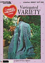 "Leisure Arts ""Variegated Variety"" 12 Quick & Easy Designs - Crochet - Ge... - $8.00"