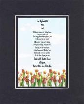 Touching and Heartfelt Poem for Extended Family Members - For My Godchil... - $15.79