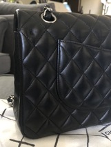 SALE* AUTHENTIC Chanel Quilted Lambskin Classic Medium Black Double Flap Bag SHW image 9