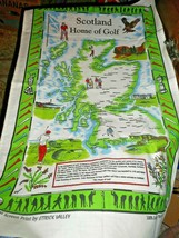 Scotland Home of Golf Screen Print Ettrick Valley Cotton Tea Towel Wall Art - $14.84