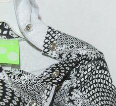 Snopea 3 Piece Outfit Vest Shirt Pants Black White Velour Size 9 Months image 4