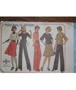 7586 Vintage Simplicity Schnittmuster Misses Top, Wickelrock Hose Tasche - $6.90