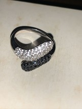 Vintage Sterling Silver Crystal Rhinestone Ring - $9.49