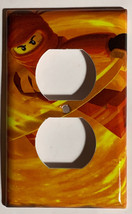 Ninjago KAI red Light Switch Outlet duplex wall Cover Plate Home Decor image 2