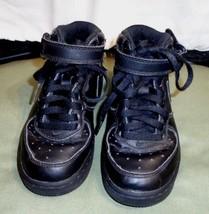 Little Boys Sz 11.5 C Black Nike Athletic Ankle Shoes Laces Hook Loop St... - $7.50