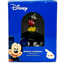 """Disney Mickey Mouse Musical Waterball Snowglobe Plays The """"Mickey Mouse March"""" - $29.95"""