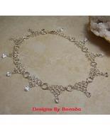 Diamonds & Circles Chain Maille & CZ Necklace - $225.00