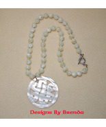 Celtic Knot Mother of Pearl  Necklace & Earring... - $105.00