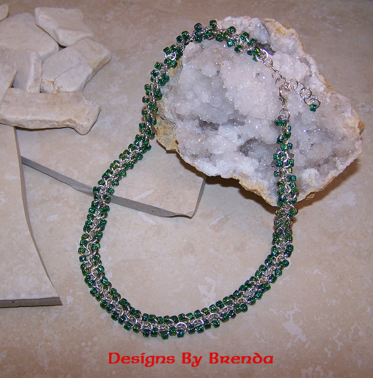Dbb red carpet cable   green crystals