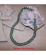 Red Carpet Chain Maille with Green Crystals Nec... - $171.00