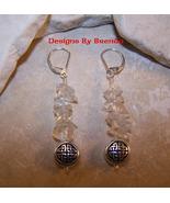 Quartz Crystal Celtic Knot Drop Earrings - $30.00