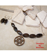 Laser Cut  Wood Pendant & Wood Beads Necklace &... - $64.00