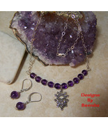 Luckenbooth & Amethyst Necklace & Earring Set - $78.00