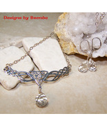 Clear Faceted Crystal Teardrop & Celtic Knot Fe... - $72.00