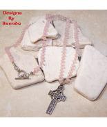 Rose Quartz Bead & Silver Celtic Cross Necklace - $107.00
