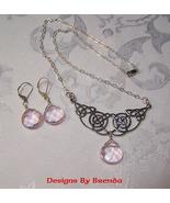 Rose Quartz & Celtic Knot Necklace & Earrings Set - $75.00