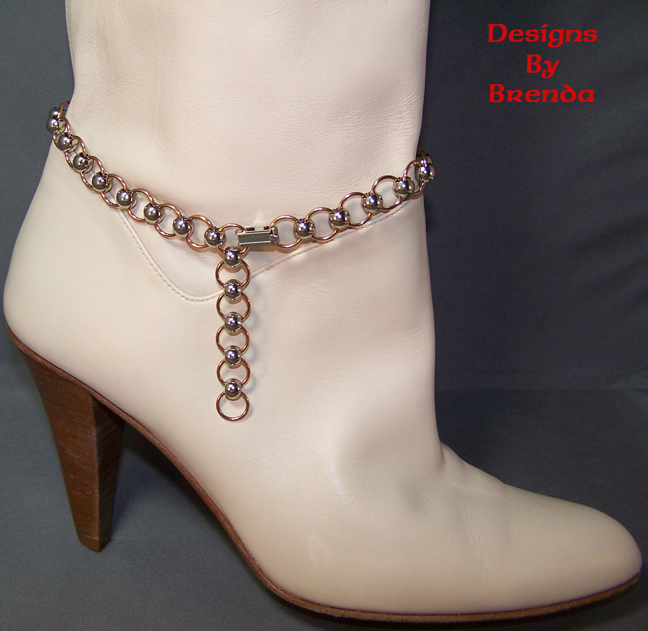Brass stainless steel boot chain