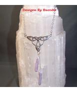 Lavender Stick Pearls & Celtic Trinity Knot Set - $86.00
