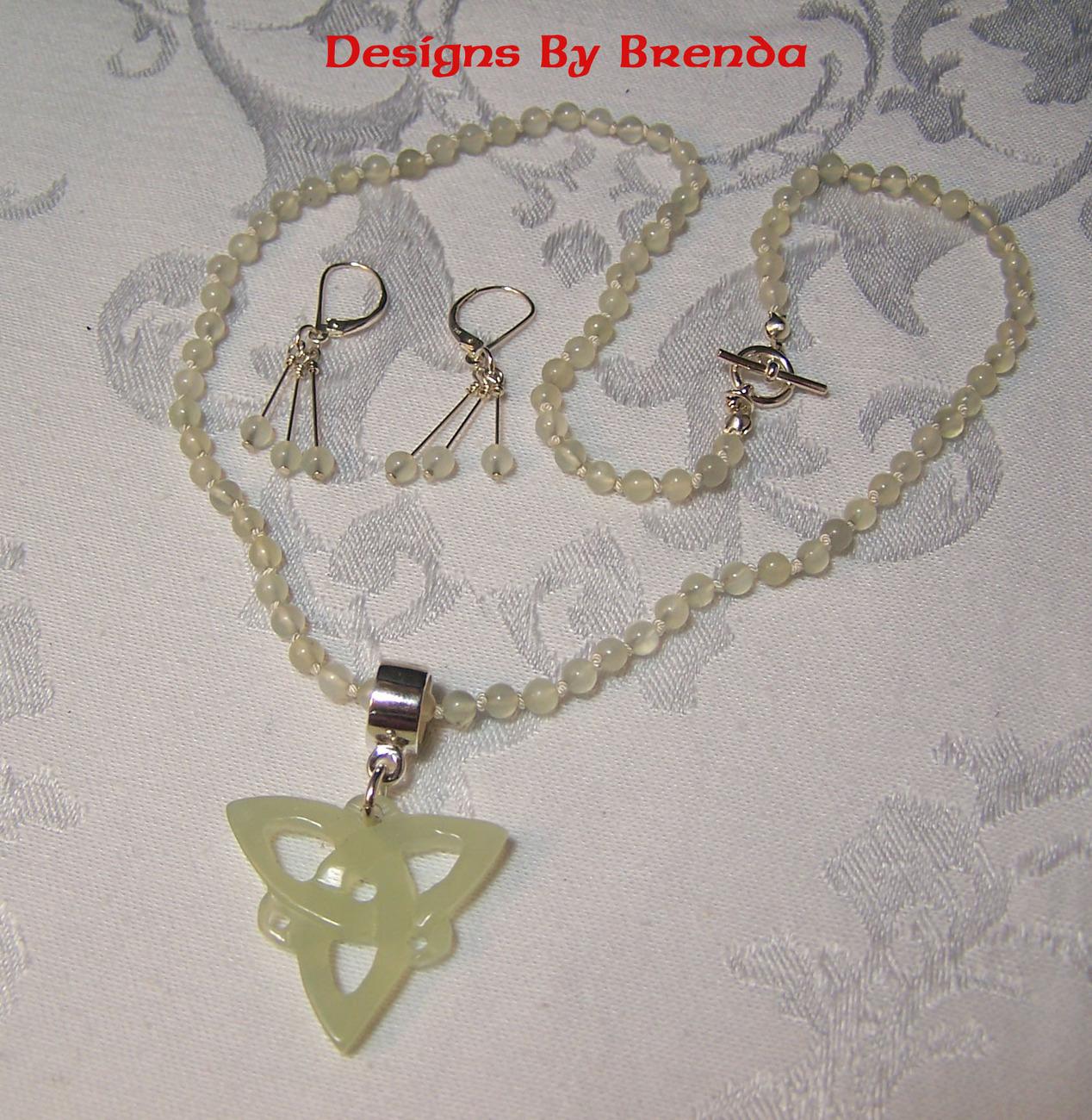 New jade trinity stone set