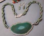 Olive pearl agate slice set gray 2 thumb155 crop