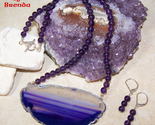 Purple clear agate slice amethyst beads set thumb155 crop
