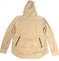 MENS FOREVER 21 Hoodie Sweatshirt Zipper Pockets Rounded Hem sz L - $11.88