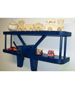 AVIATION / KIDS' ROOM / AIRPLANE COLLECTORS --  BLUE AIRPLANE SHELF - La... - $38.99