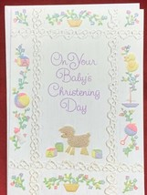 Greeting Cards Buzza Gibson On Your Babys Christening Day Old Fashion Ba... - $6.14