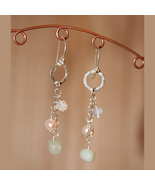 Morning Mist Silver Dangle Earrings - $35.00