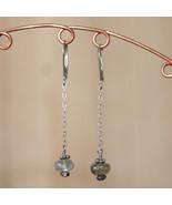 Labradorite on a chain earrings - $25.00