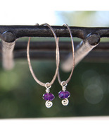 Amethyst Spirals and Hoops - $26.00